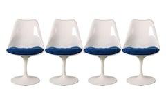 Four Knoll Eero Saarinen Swivel Tulip Chairs