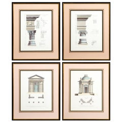 Four Large Architectural Prints of Classical Orders