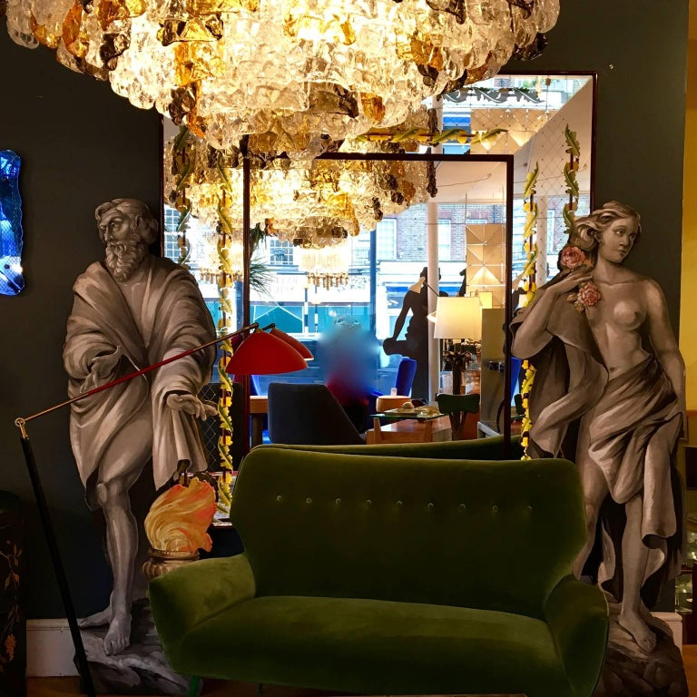 Four Large Italian Theatrical Props or Paintings of Classical Figures For Sale 5