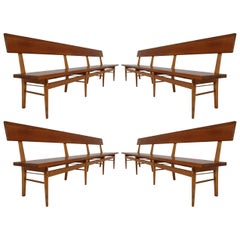 Four Large Mid-20 Century Scandinavian Wooden Benches
