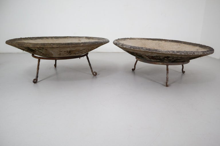 Four Large Willy Guhl Garden Stone Planters on Stands, Switzerland, 1960s For Sale 3