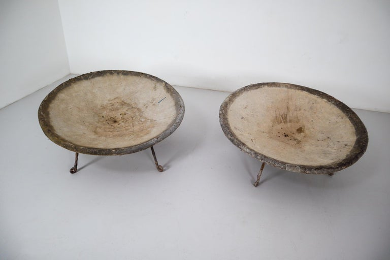 Four Large Willy Guhl Garden Stone Planters on Stands, Switzerland, 1960s For Sale 4