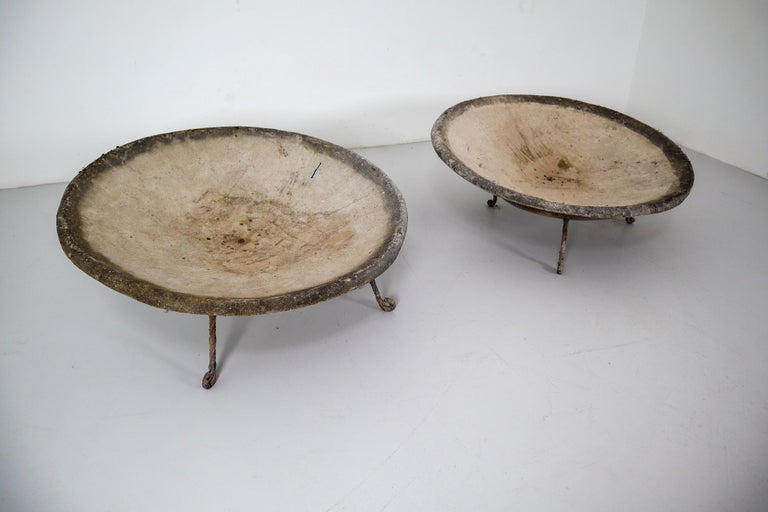Four Large Willy Guhl Garden Stone Planters on Stands, Switzerland, 1960s For Sale 5