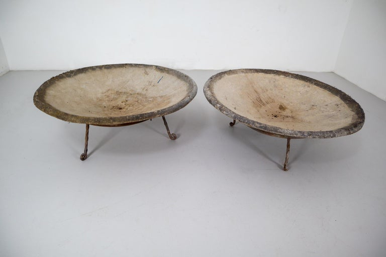 Four Large Willy Guhl Garden Stone Planters on Stands, Switzerland, 1960s For Sale 1
