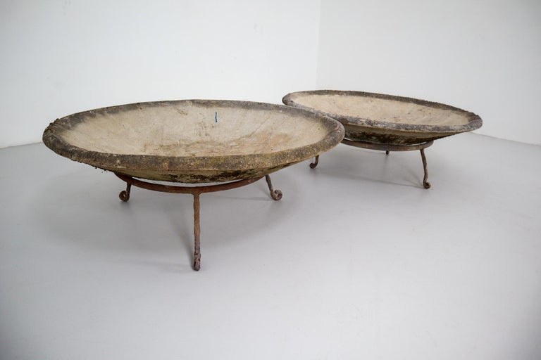 Four Large Willy Guhl Garden Stone Planters on Stands, Switzerland, 1960s For Sale 2