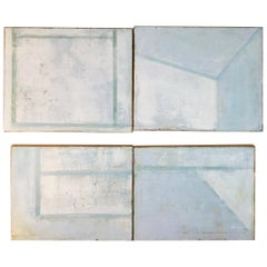 Four Layered Mixed-Media on Canvas Titled Four Corners by Robin Phillips