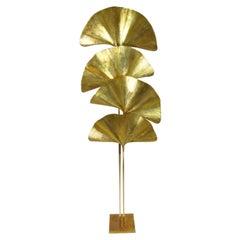 "Four-Leaf ""Ginkgo"" Floor Lamp, Design Tommaso Barbi, Italy, 1970"