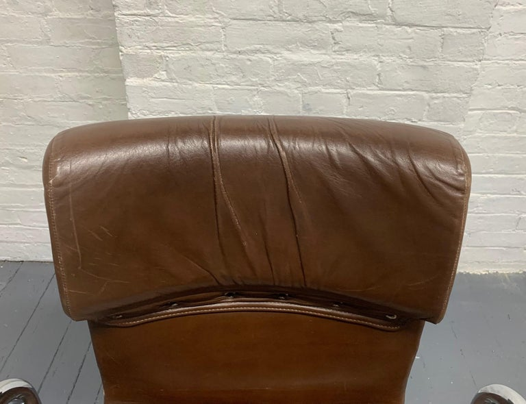 Four Leather Chairs by Guido Faleschini for Mariani For Sale 2