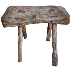 Four Legged Primitive Stool from Mexico