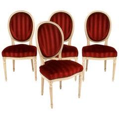 Four Louis XVI Style French Chairs