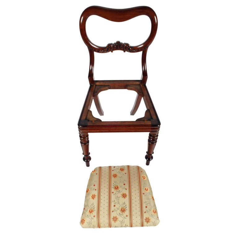 Four Mahogany 'Kidney' Back Chairs For Sale 1