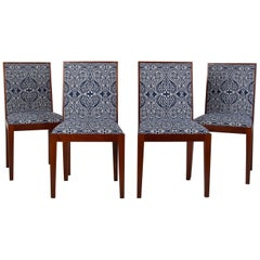 Four Mahogany Side Chairs, Possibly Jean Michele Frank