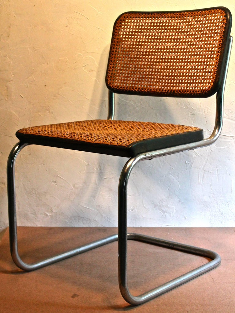 American Four Early Marcel Breuer Thonet B32 Bauhaus Classic Chairs For Sale