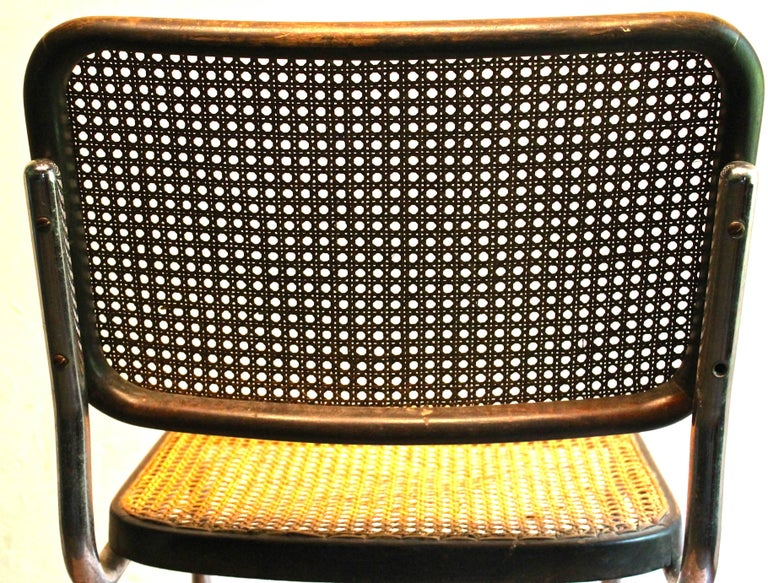 Four Early Marcel Breuer Thonet B32 Bauhaus Classic Chairs In Good Condition For Sale In Sharon, CT