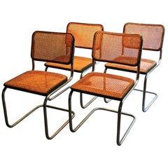 Four Early Marcel Breuer Thonet B32 Bauhaus Classic Chairs
