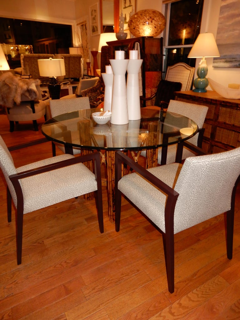 Hand-Crafted Four Midcentury American Made Armchairs by Gunlocke Co after Risom For Sale