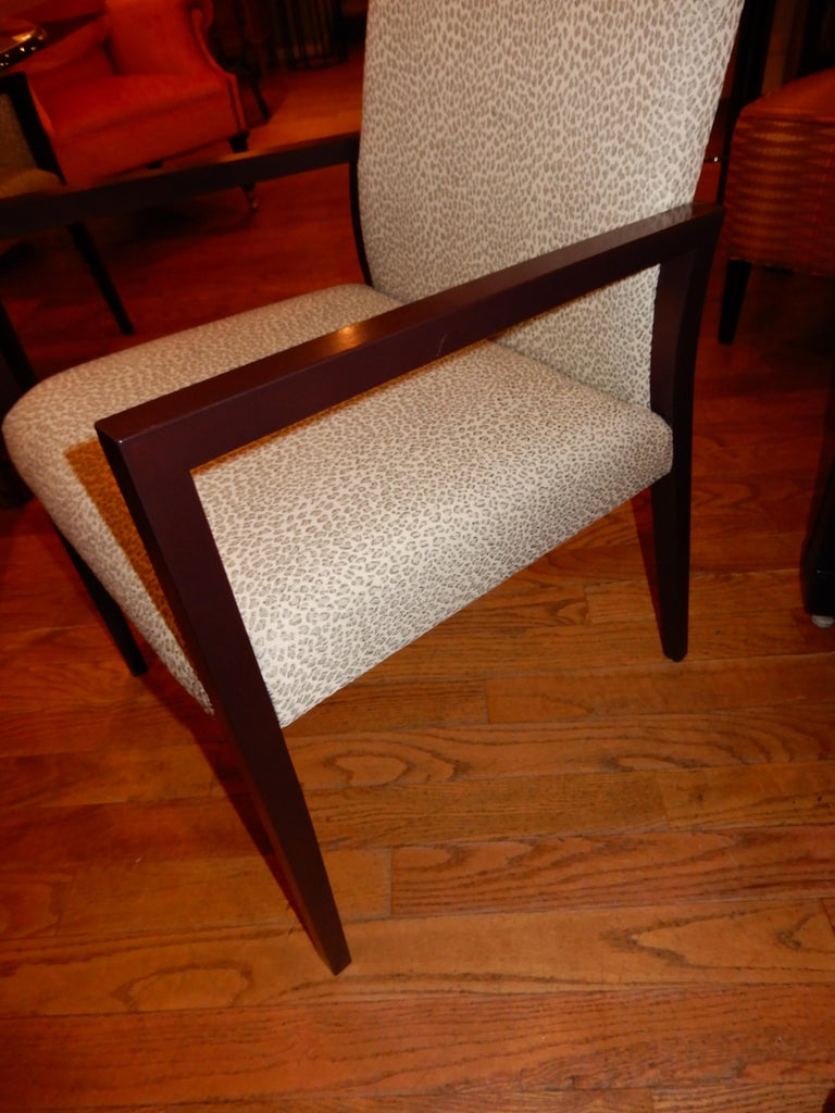 Four Midcentury American Made Armchairs by Gunlocke Co after Risom For Sale 1
