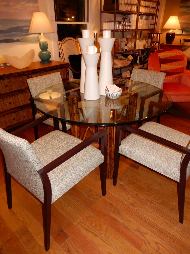 Four Midcentury American Made Armchairs by Gunlocke Co after Risom For Sale 2