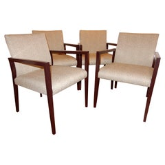 Four Midcentury American Made Armchairs by Gunlocke Co after Risom