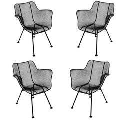 Four Mid-Century Modern Russell Woodard Sculptura Chairs Outdoor Indoor