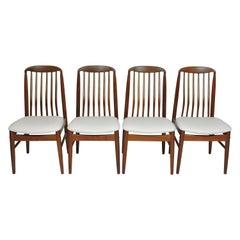 Four Midcentury Danish Modern Teak Benny Linden Dining Chairs
