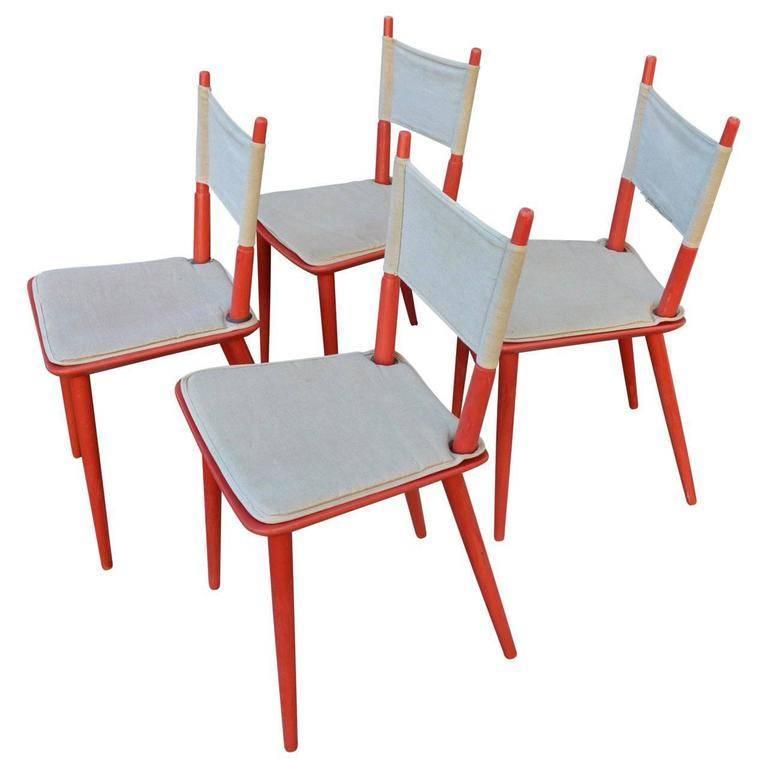 Set of Four Danish Jørgen Bækmark Dining Chairs, Mid-Century Modern