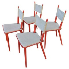 Four Midcentury Jørgen Bækmark Dinning Chairs