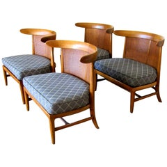 Four Midcentury Tomlinson Sophisticate Slipper Chairs, circa 1956
