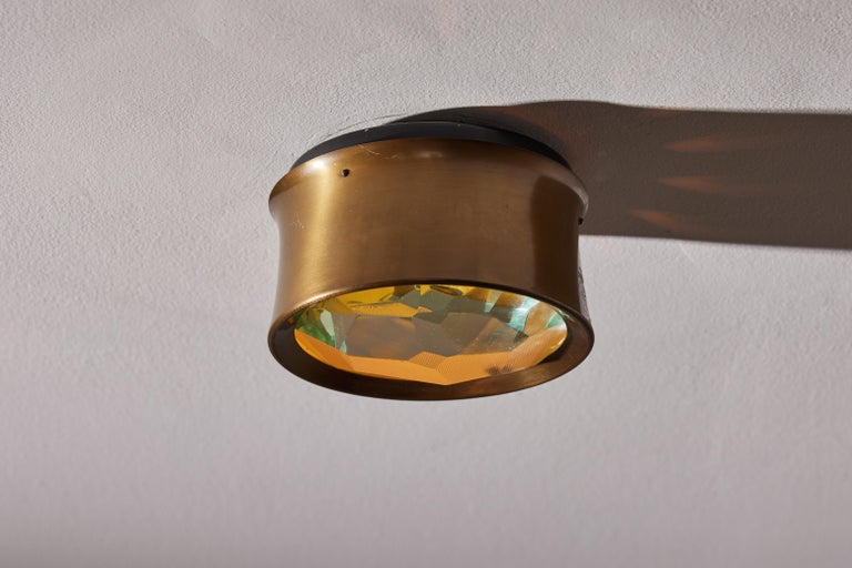 Italian Four Model 2319 Wall/ Ceiling Lights by Max Ingrand for Fontana Arte For Sale