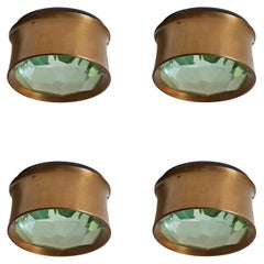 Three Model 2319 Wall/ Ceiling Lights by Max Ingrand for Fontana Arte