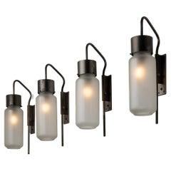 """Four Model Lp10 """"Bidone"""" Wall Lights by Luigi Caccia Dominioni for Azucena"""
