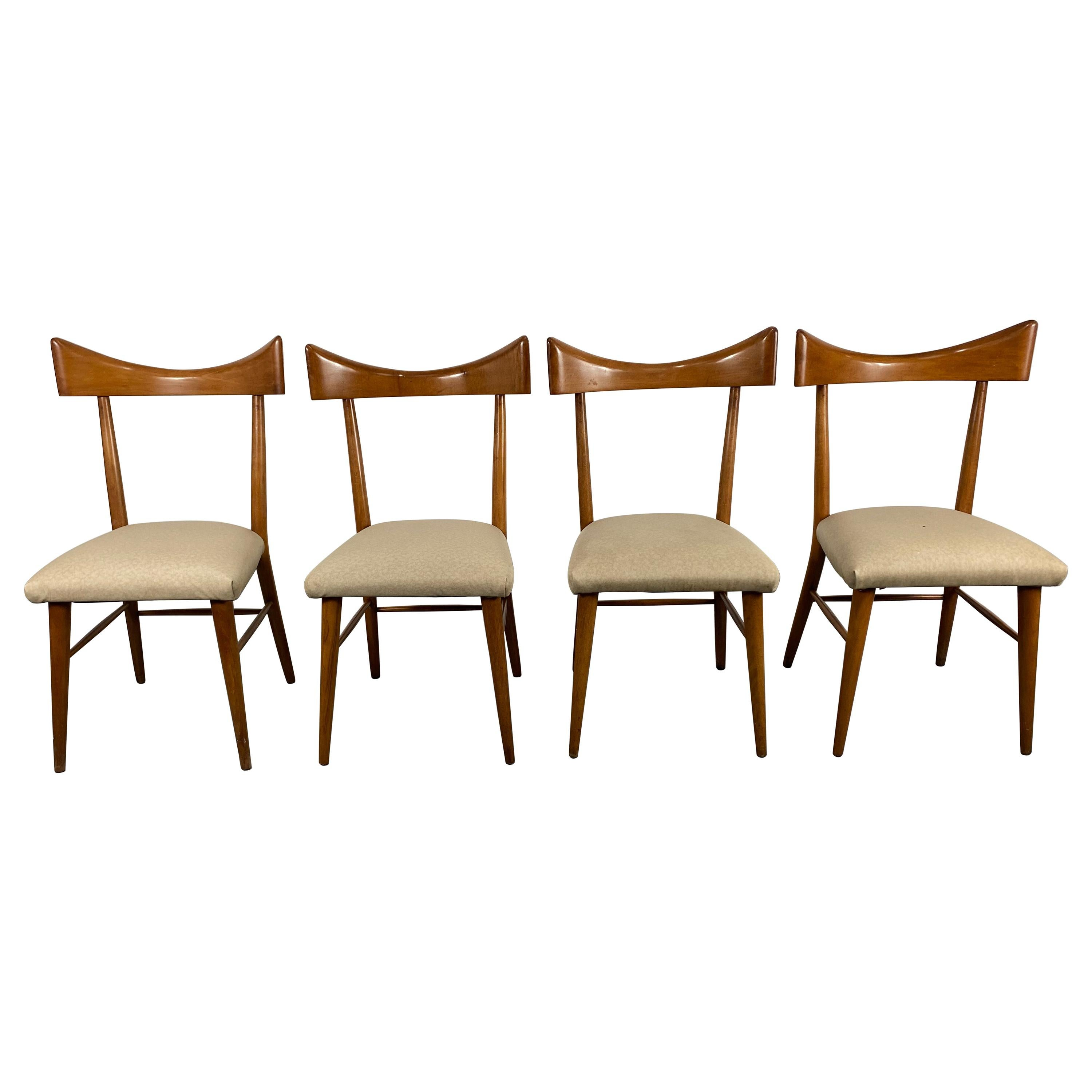 Four Modernist Paul McCobb Winchendon Open Back Dining Chairs