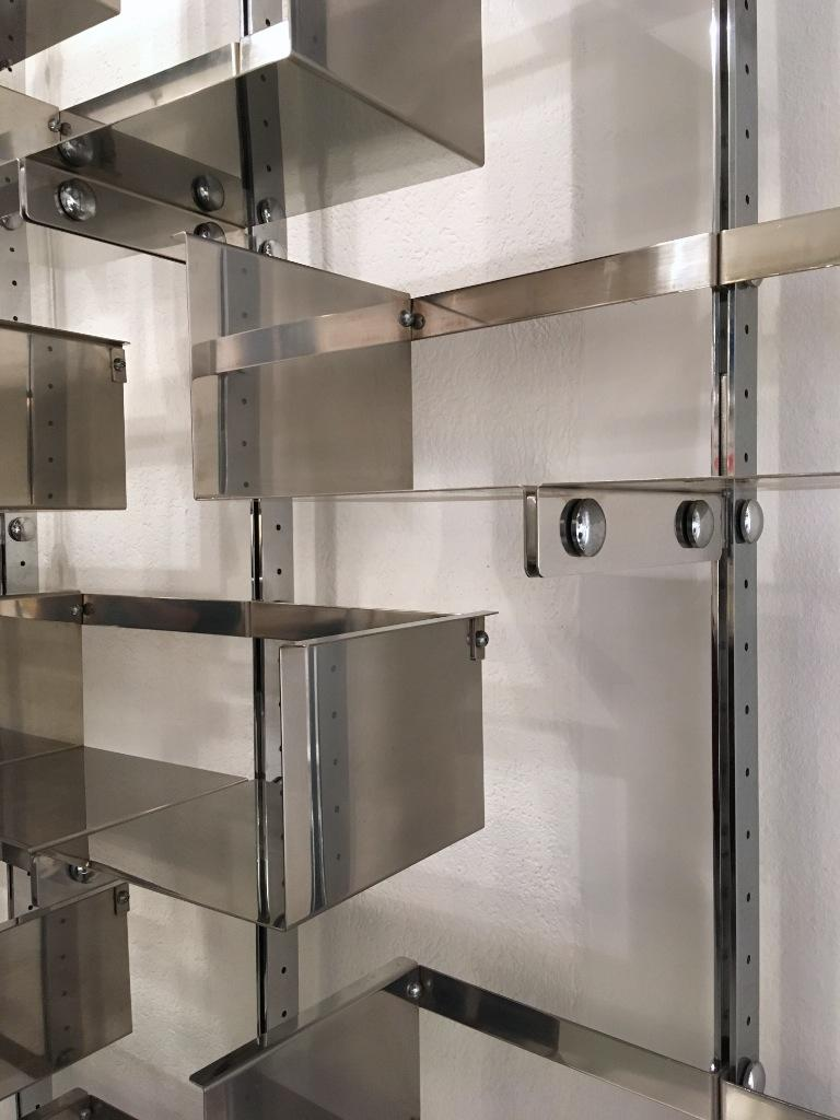 Four Modular Wall-Mounted Shelving System by Vittorio Introini for Saporiti 1969 4