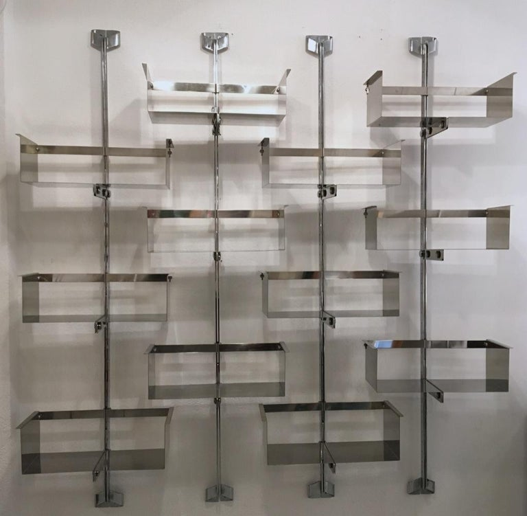 Four Modular Wall-Mounted Shelving System by Vittorio Introini for Saporiti 1969 6