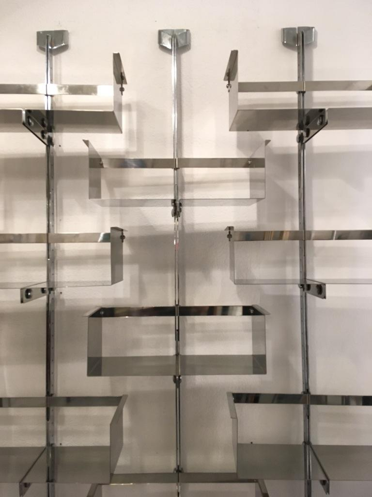Mid-20th Century Four Modular Wall-Mounted Shelving System by Vittorio Introini for Saporiti 1969