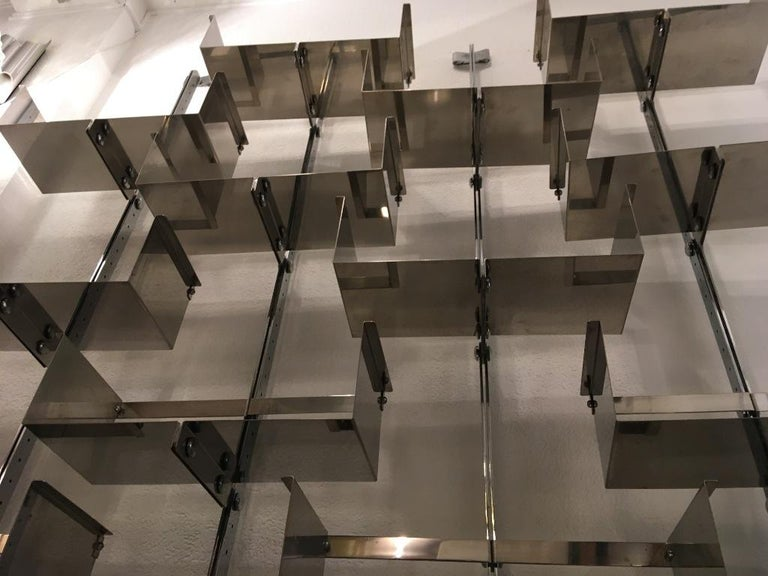 Four Modular Wall-Mounted Shelving System by Vittorio Introini for Saporiti 1969 3
