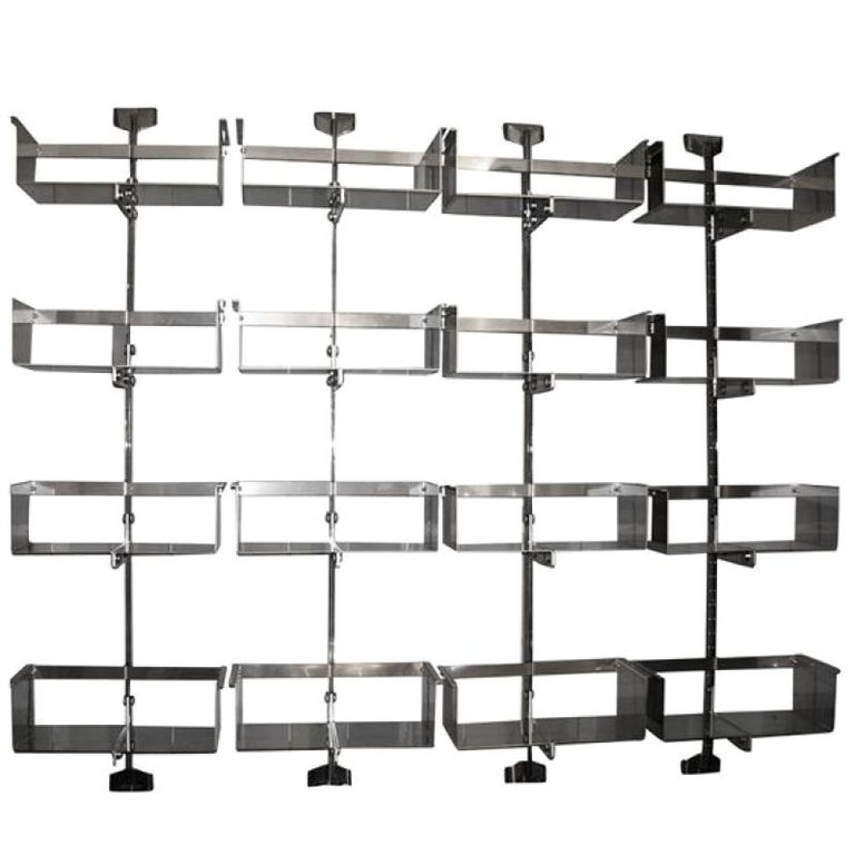 Four Modular Wall-Mounted Shelving System by Vittorio Introini for Saporiti 1969