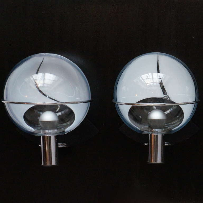Four Murano Glass Sconces Attributed to Toni Zuccheri For Sale 3