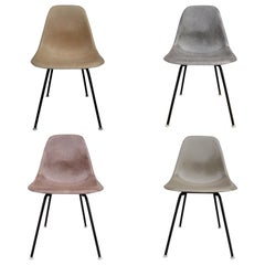 Four Neutral Herman Miller Eames Dining Chairs