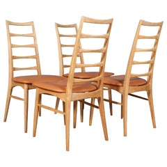 """Four Niels Koefoed Dining Chairs, Model """"Lis"""""""