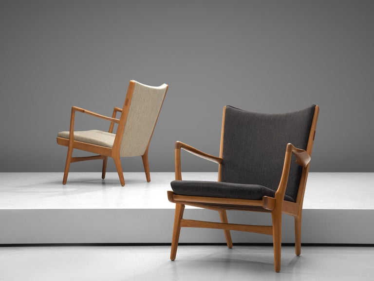 Four of  'AP-16' Lounge Chairs by Hans J. Wegner In Good Condition For Sale In Waalwijk, NL
