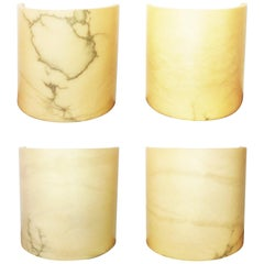 Four of  Alabaster Minimalist Wall Sconces, Spain