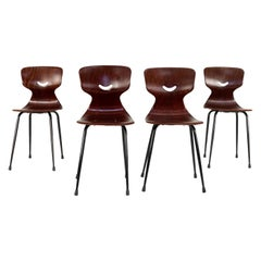 Four Pagholz Flötotto Midcentury Dining Chairs by Adam Stegner, Germany, 1950s