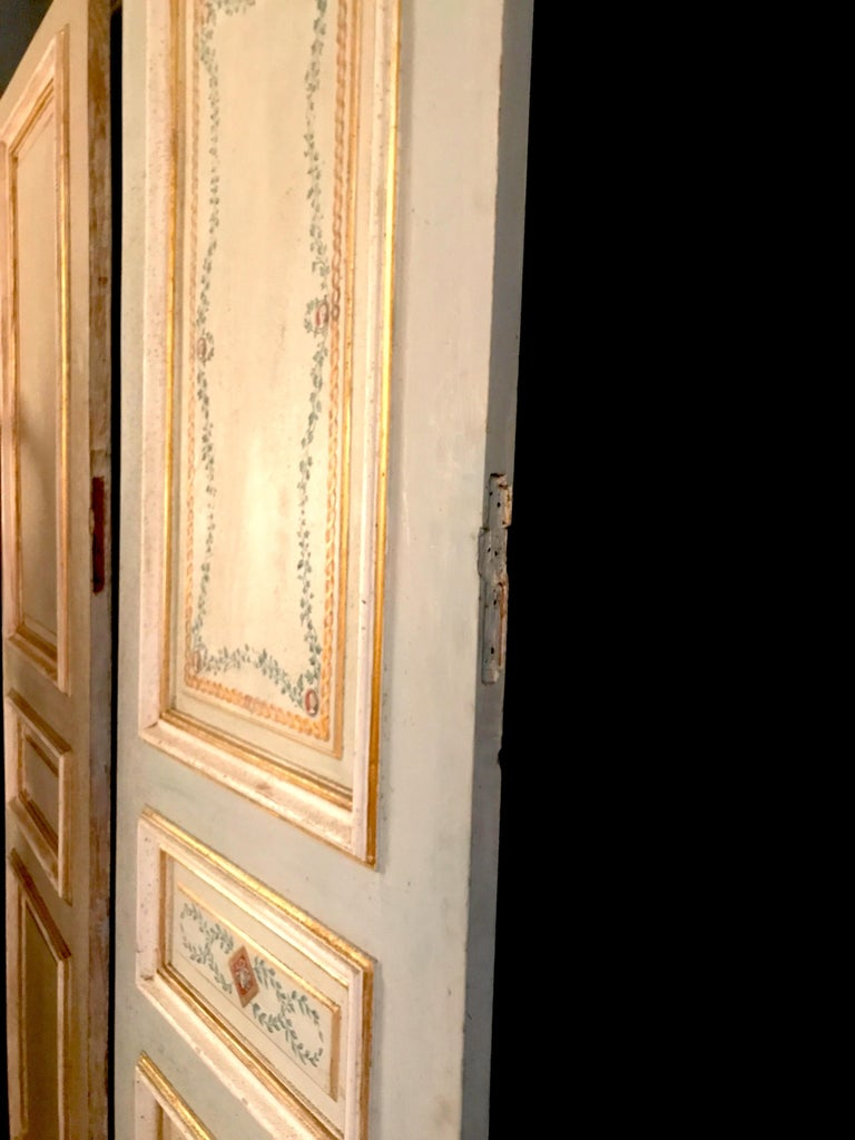 Four Pairs of 19th Century Italian Painted Doors or Panelling For Sale 4