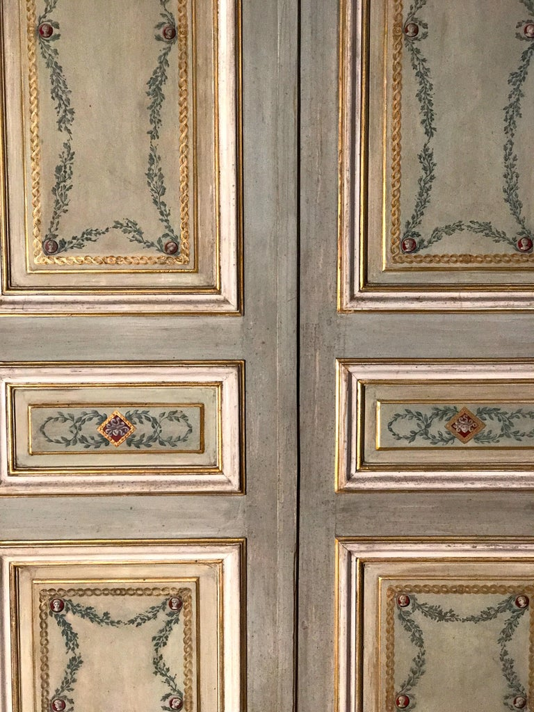 Four Pairs of 19th Century Italian Painted Doors or Panelling For Sale 6
