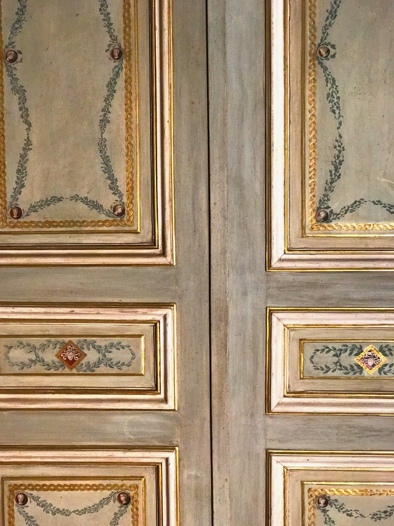 Four Pairs of 19th Century Italian Painted Doors or Panelling For Sale 9