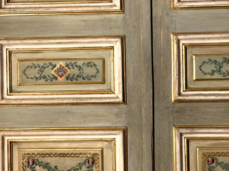 Four Pairs of 19th Century Italian Painted Doors or Panelling For Sale 10