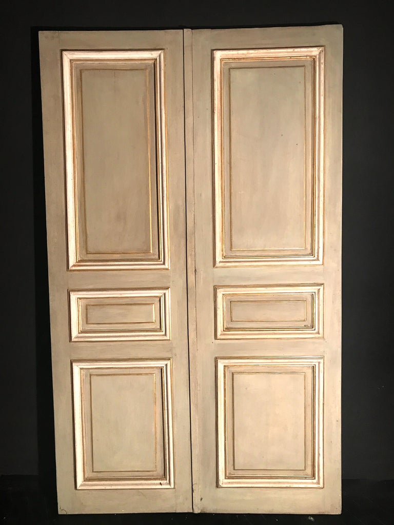 Neoclassical Four Pairs of 19th Century Italian Painted Doors or Panelling For Sale