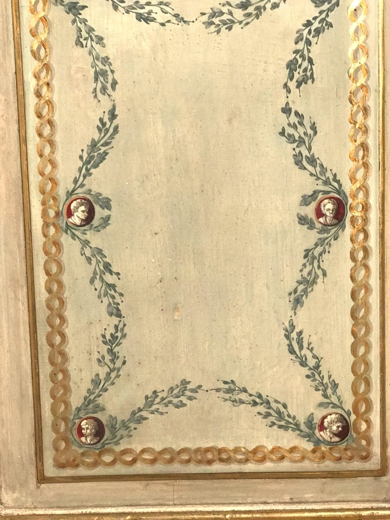 Hand-Painted Four Pairs of 19th Century Italian Painted Doors or Panelling For Sale