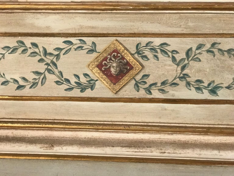 Wood Four Pairs of 19th Century Italian Painted Doors or Panelling For Sale